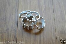 4PC Real CNC machined 1 1/8 Threadless Headset Stem Spacer ^^ SILVER ANODIZED
