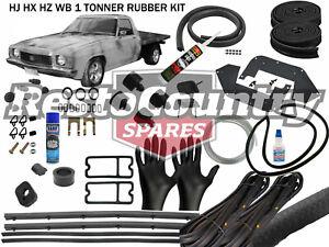 Holden Complete 1 Tonner Body Rubber Kit HJ HX HZ WB BLACK Pinch ute door seal