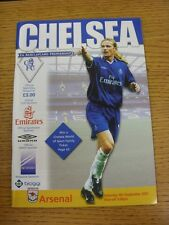 08/09/2001 Chelsea v Arsenal  (Excellent Condition)