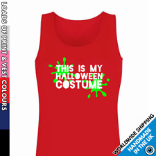 Ladies Halloween Costume Vest • Tank Top Girls Funny Party Top Outfit Lady