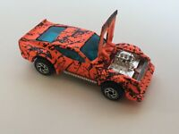 Matchbox Ford Imsa Mustang Toy Car Diecast 1983 Neon Crackle Blue Tinted Windows