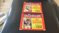 Lot of 2 1986 Topps Football Stickers WRAPPERS - No Stickers - EX