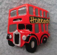 Harrods Dept Store London England Double Decker Bus 3D Magnet, Souvenir, Travel