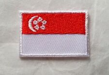 SINGAPORE NATIONAL COUNTRY FLAG EMBROIDERED 2x3cm SEWING IRON-ON PATCH FREE SHIP