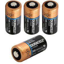 4x Duracell 3v batería de litio 123 - 1400mah-dl123a/cr123a/cr17345