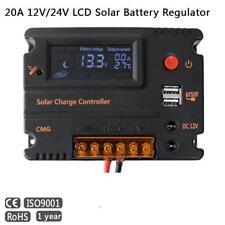 20A LCD Solar Panel Battery Regulator Charge Intelligent Controller 12-24V DE PW