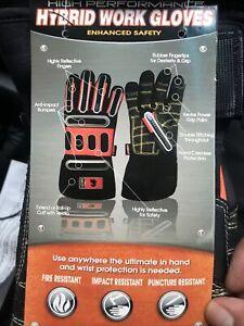 K & E Safety High Performance Impact/Fire Resistant Hybrid Work Gloves - XXXL
