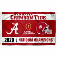 Alabama Crimson Tide National Football 2020 Champions 3x5 Flag