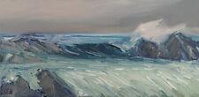 PACIFIC BREAK Original Seascape Surf Ocean Expression Painting 10x20 022920 KEN