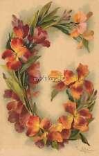 "Vintage Victorian Klein Floral Letter Initial ""G""  2"" x 3"" Fridge Magnet"