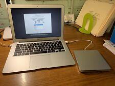 Apple Macbook Air ( i5 4th Gen 4GB RAM 128 GB SSD) - Silver W/ External CD/DVD