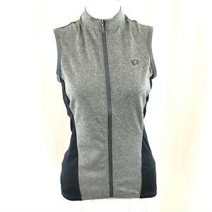 Pearl Izumi Womens Select Escape Jersey Sleeveless Full Zip Gray Size XS