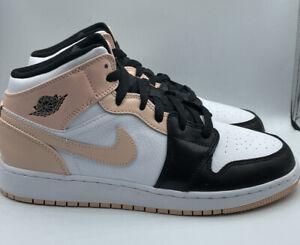 Nike Air Jordan 1 Mid Crimson Tint 554725-133 GS Size 7Y Brand New