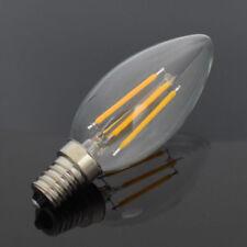 10X LED RETRO EDISON FILAMENT GLÜHBIRNE VINTAGE KERZE C35 E14 4W LAMPEN WARM NEU