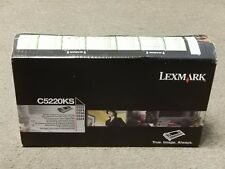 Lexmark C5220KS Black Toner Cartridge C522 C524 Genuine New Sealed Box