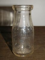 VINTAGE TRINITY DAIRY CO STORE BOTTLE  HALF PINT MILK BOTTLE