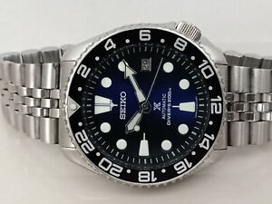 LOVELY SAVE THE OCEAN MODDED SEIKO DIVER 7002-7009 AUTOMATIC MEN'S WATCH 180034