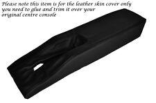Negro Stitch Centro Consola túnel Cuero Piel tapa se ajusta Corvette C3 77-82