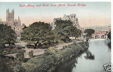 Somerset Postcard - Bath Abbey & River From North Parade Bridge   A5834