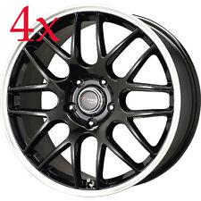 Drag Wheels DR-37 16x7 5x112 +40 cb66.56 Black Rims For Golf Jetta CC Scirocco