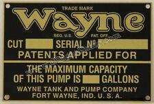 Wayne Visible Gas Pump ID Tag Fits Models 515 - 615 Part # ID-114