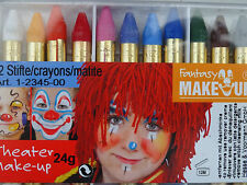 12 CRAYONS  MAQUILLAGE   MASQUE CARNAVAL
