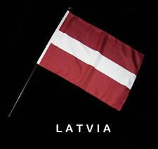 LATVIA LATVIAN Hand Waver Flag - 30x45cm