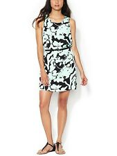 NWOT $152 The Letter Shadow Floral Shift Dress Black/Mint Size S