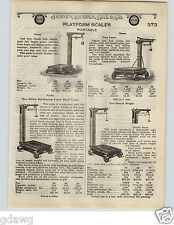 1924 PAPER AD Howe Blue Ribbon Portable Warehouse Scale New Detroit Gaston