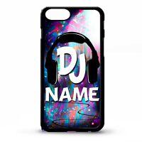 DJ mc ibiza cool music gift headphones custom personalised name phone case cover
