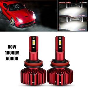 H8/H9/H11 LED Headlight Bulbs 60W 10000LM Hi/Lo Beam Headlight Conversion Kit