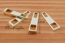 #5 zipper pull zinc zipper puller Standard style light gold 3.4cm x 1cm H75
