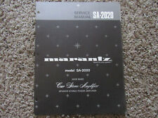 New listing Marantz Sa-2020 Car Stereo Amplifier Original Service Repair Manual