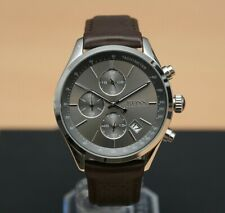 Brand New Hugo Boss Mens Brown Leather Grand Prix Chronograph Watch HB1513476