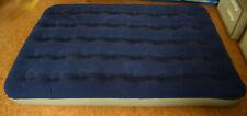 Gästebett Luftbett Veloursliege mit Aufbewahrungstasche 191 x 132 cm aufblasbar