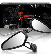 MZS Motorcycle Bar End Mirrors Rear View CNC Black Custom Machined Gorgeous Add