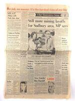 Vintage December 8 1977 Toronto Star Front Page Newspaper Mining Layoffs K674