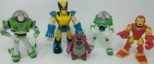 Marvel & Disney Figure Lot - WOLVERINE Iron Man BUZZ LIGHTYEAR Lotso - Toy Story