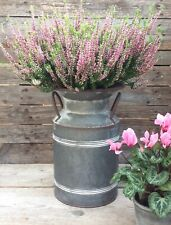 Large Vintage Style Metal Milk Churn Urn Garden Planter Flower Pot Tub Ornament