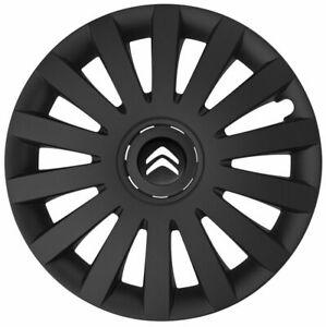 15'' Wheel trims Hub Cups for CITROEN  Berlingo  - black new logo 4x15''