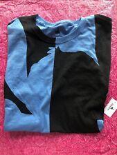Disney Parks Stitch Silhouette Black & Blue T-Shirt Adult L Stitch Word On Back