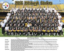 2016 PITTSBURGH STEELERS 8X10 TEAM PHOTO LEVEON BELL ANTONIO BROWN HARRISON