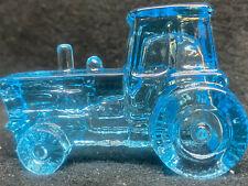Blue Vaseline glass John Deere Farm Tractor uranium Ford international harvestor