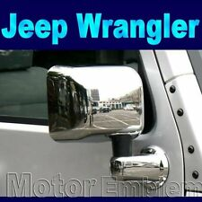 Ensemble complet chrome wing door mirror covers mic pour Jeep Wrangler Unlimited 07-12