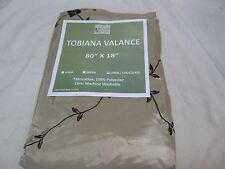 New Victoria Classics Tobiana Window Valance Linen/Chocolate 80X18 Nip