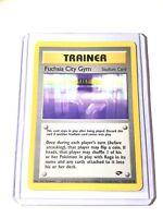 FUSCHIA CITY GYM - Gym Challenge - 114/132 Trainer Uncommon - Pokemon Card - NM