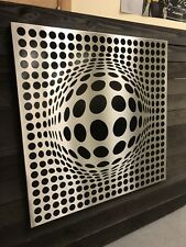 Optical Illusion - Metal Wall Art Decor Stainless Steel