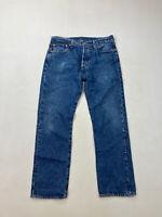 LEVI'S 501 STRAIGHT Jeans - W33 L30 - Blue - Great Condition - Men's