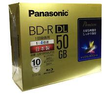 Genuine 10+1 FREE Panasonic Bluray BD-R 4x 50gb Inkjet Printable Blu ray Spindle