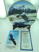 "MAJESTY OF FLIGHT BY T J HIRATA ""FIERCE AND FREE"" COLLECTORS PLATE, BOX & COA."